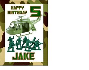 Personalised toy soldiers army birthday card a5 any name age image is loading personalised toy soldiers army birthday card a5 any bookmarktalkfo Choice Image