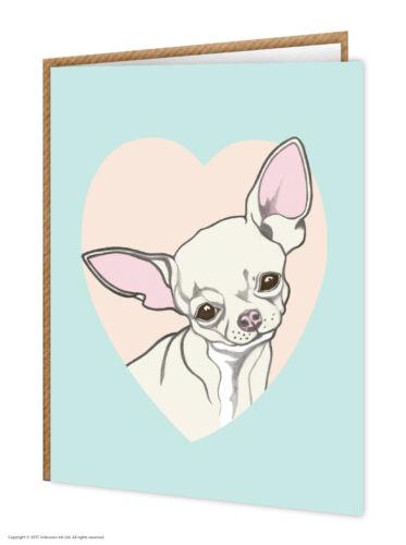 Birthday Cute Greeting Card Dog Lovers Chihuahua Brainbox Candy
