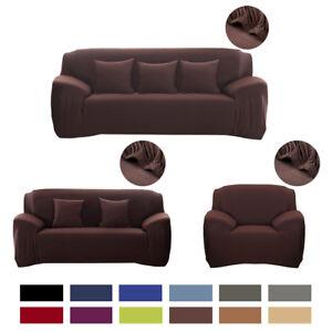housse canap fauteuil coussin rev tement couvre tissu lastique 1 2 3 4 places ebay. Black Bedroom Furniture Sets. Home Design Ideas