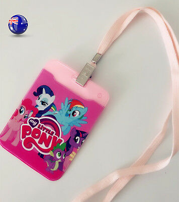 Girl My Little Pony ID Name Card Protector Key Holder Tag badge case keyring