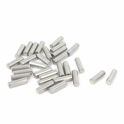 2.5 mm x 8 mm 304 Acier Inoxydable Goujons Attachez éléments ton argent 30pcs