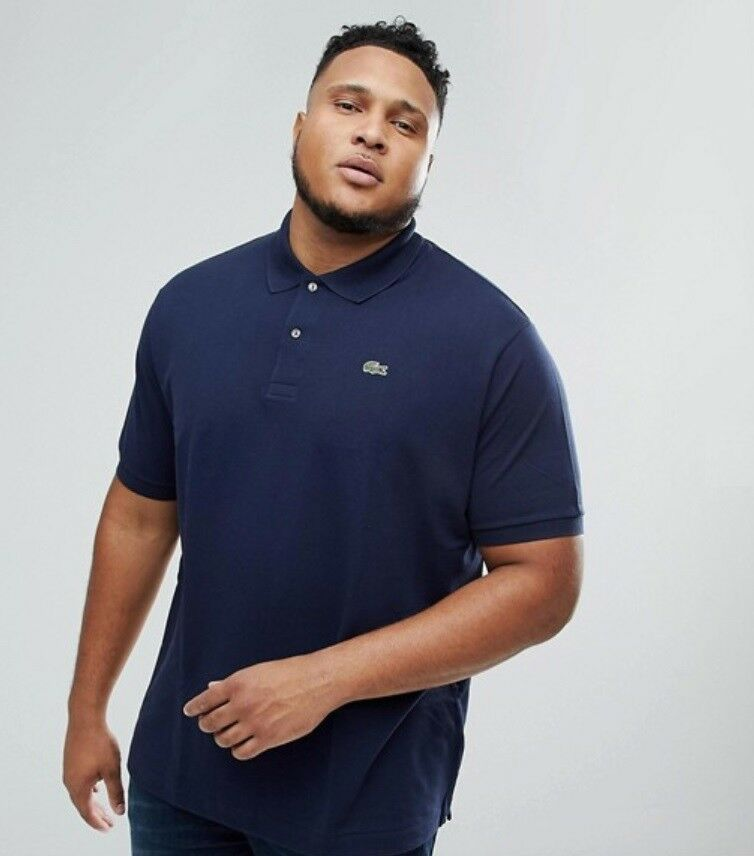 LACOSTE POLO SHIRT BNWT - BIG SIZE 1XLB - CLASSIC FIT - NAVY blueE - RRP