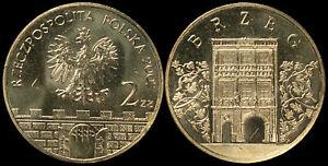 Pologne. 2 Zloty. 2007 (Pièce KM#Y.615 Neuf) Ville Historique Brzeg
