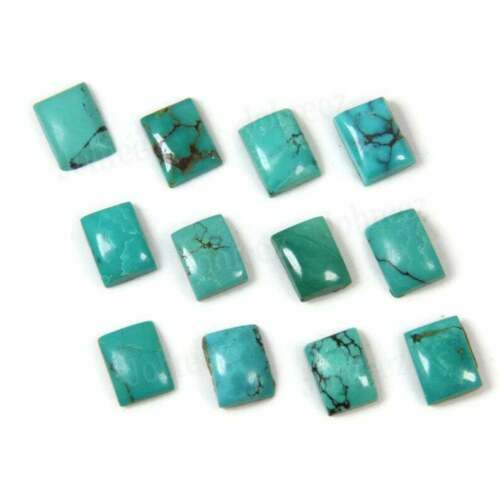 Details about  /Lot Natural Tibetan Turquoise 16X22 mm Octagon Cabochon Loose Gemstone