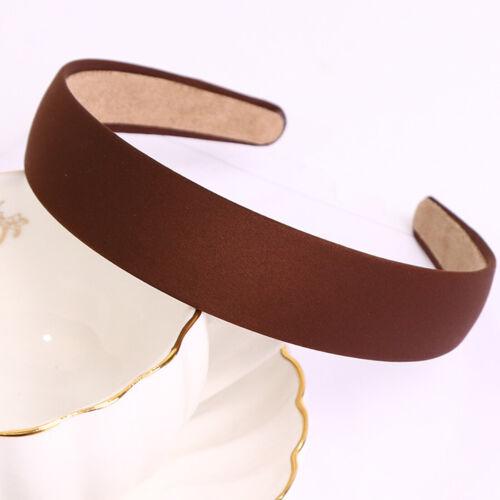 Women 3cm Wide Hair Band Headband Vintage Girls DIY Headpiece Headwear Accessory