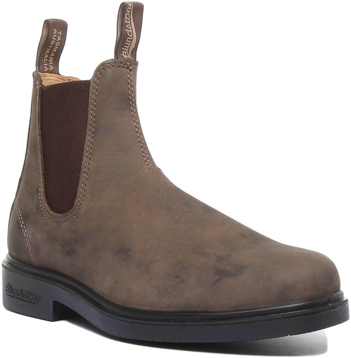 Blaundstone 1306 Mens Leather Ankle Chelsea Stiefel In Rustic braun UK Größes 6 - 12