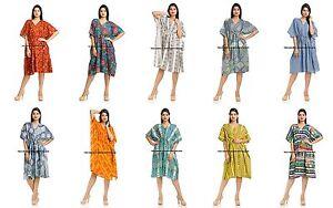 6b7c283cc3767 Indian Short Kaftan Dress Cotton Boho Maxi Plus Size Women Caftan ...