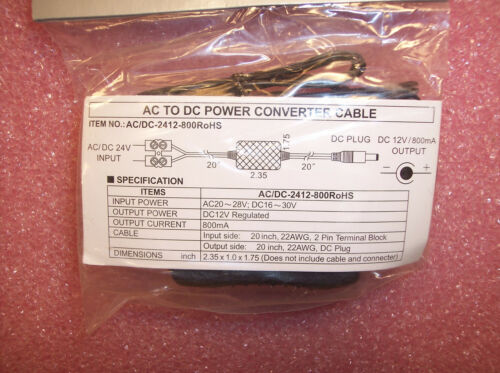 AC//DC2412-800ROHS MG ELECT 24Vac TO 12Vdc POWER CONVERTER CABLE CCTV CAMERA