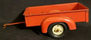 Vintage-1-16-Tru-Scale-Red-Utility-Trailer-nice-condition-with-original-paint