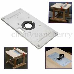 2351208mm aluminum router table insert plate w 4 insert rings diy image is loading 235 120 8mm aluminum router table insert plate greentooth Images