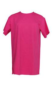 Denim-amp-Co-Women-039-s-Top-Sz-XS-Jersey-Round-Neck-Elbow-Sleeve-Pink-A352975