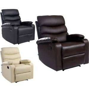 Image Is Loading ASHBY LEATHER RECLINER ARMCHAIR SOFA HOME LOUNGE CHAIR