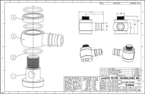 "banjo fitting bolt 7//8""-18  kit 15-91454 for puradyn"