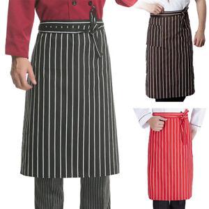 New Kitchen Aprons Half-length Long Waist Apron Catering Chefs Waiters Uniform