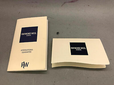 Raymond Weil Geneve International Guarantee Broschüre QualitäT Zuerst