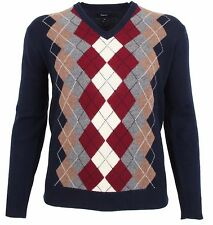 GANT Herren Pullover Men Sweater Gr. 2XL XXL 100% Lambswool Lammwolle Rauten NEU