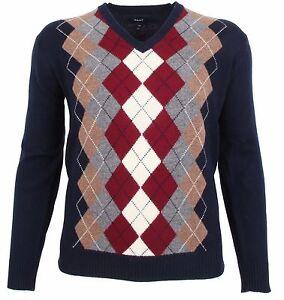 d'agnello lana Maglione Nuovo Gr Gant nuovo Men rombo Xxl 100 Sweater Uomo agnello 2xl qSFA8rqzw