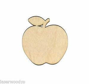 Details About Apple Unfinished Wood Shape Cut Out A6300 Laser Crafts Lindahl Woodcrafts