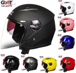 GXT-Motorcycle-Moto-Bike-3-4-Open-Face-Half-Helmet-Full-Shield-Riding-Helmets
