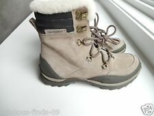 Women's Caterpillar CAT Fever leather lace up boot faux fur trim NEW size 6