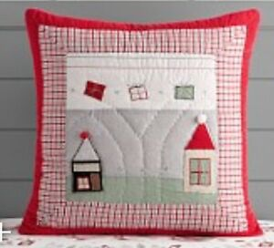 Pottery Barn Kids North Pole Quilted Euro Sham Santa