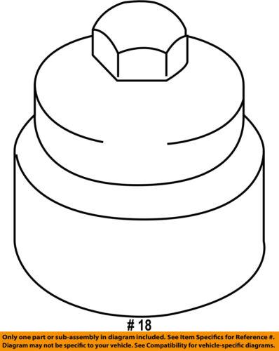 VW VOLKSWAGEN OEM 11-15 Touareg Engine Parts Cap 06E115433C 06E-115-433-C