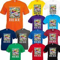 PERSONALISED CUSTOM PRINTED CHILDREN'S BIRTHDAY GIRLS T-Shirts Kids Tee T Shirt