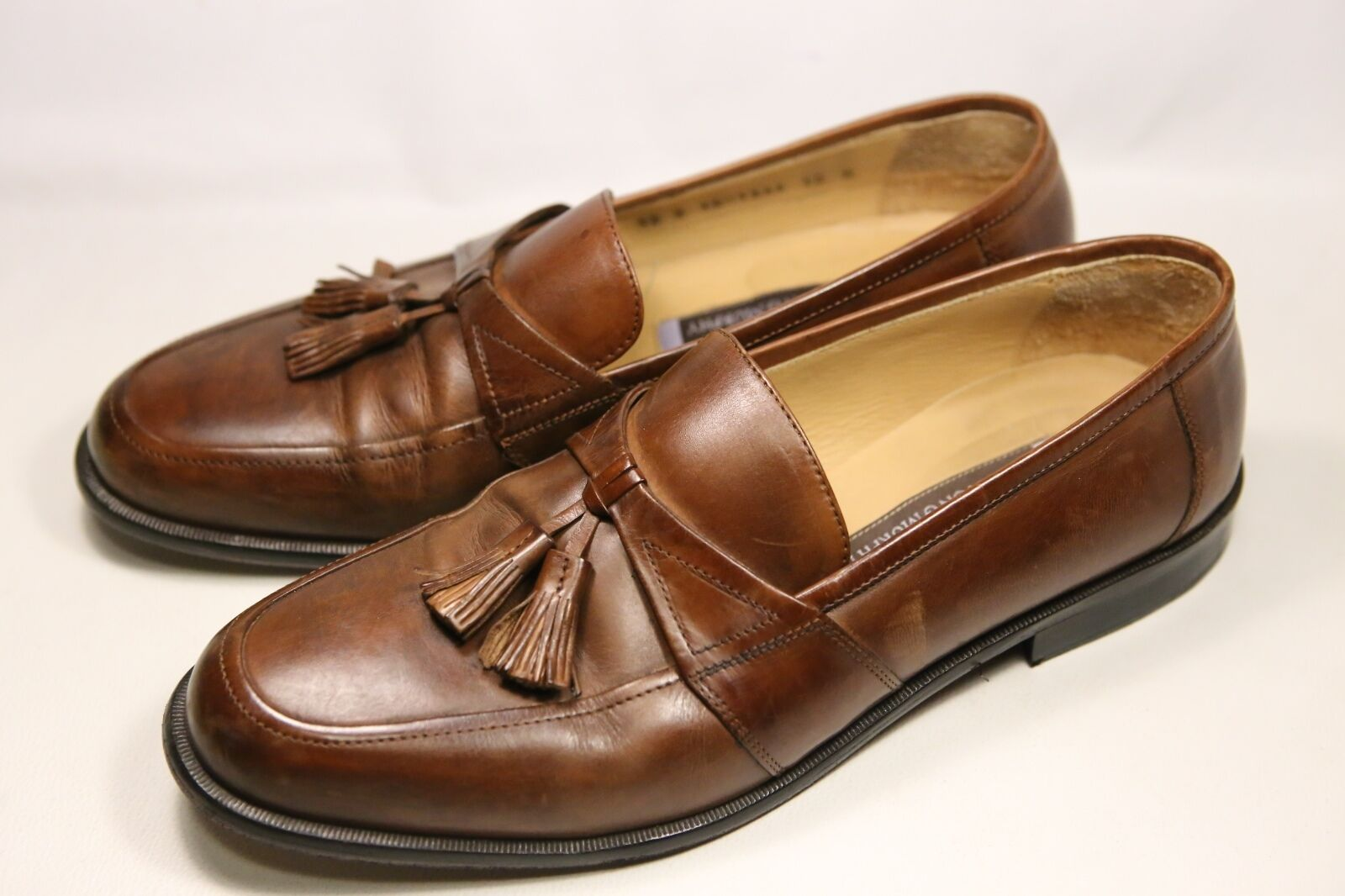 Men's Leather Johnston & Murphy Brown Leather Men's Loafers 10M edefc9