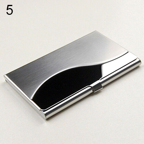 Stainless Steel Case Pocket Box Business ID Credit Card Holder Cover Deluxe HK