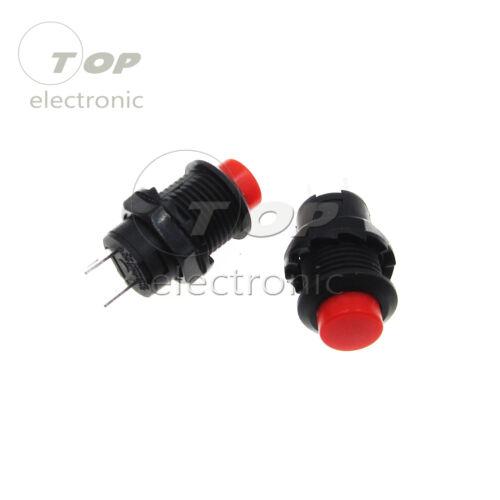 10PCS 2 Pin SPST NO Red Round Cap Push Button Switch AC 250V//1.5A 125V//3A