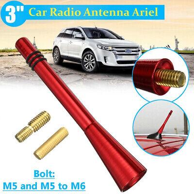 Universal 3 inch Carbon Fiber Short Antenna Car Radio AM//FM Vehicle Roof Stubby Topper Replacement Black Aluminum Alloy