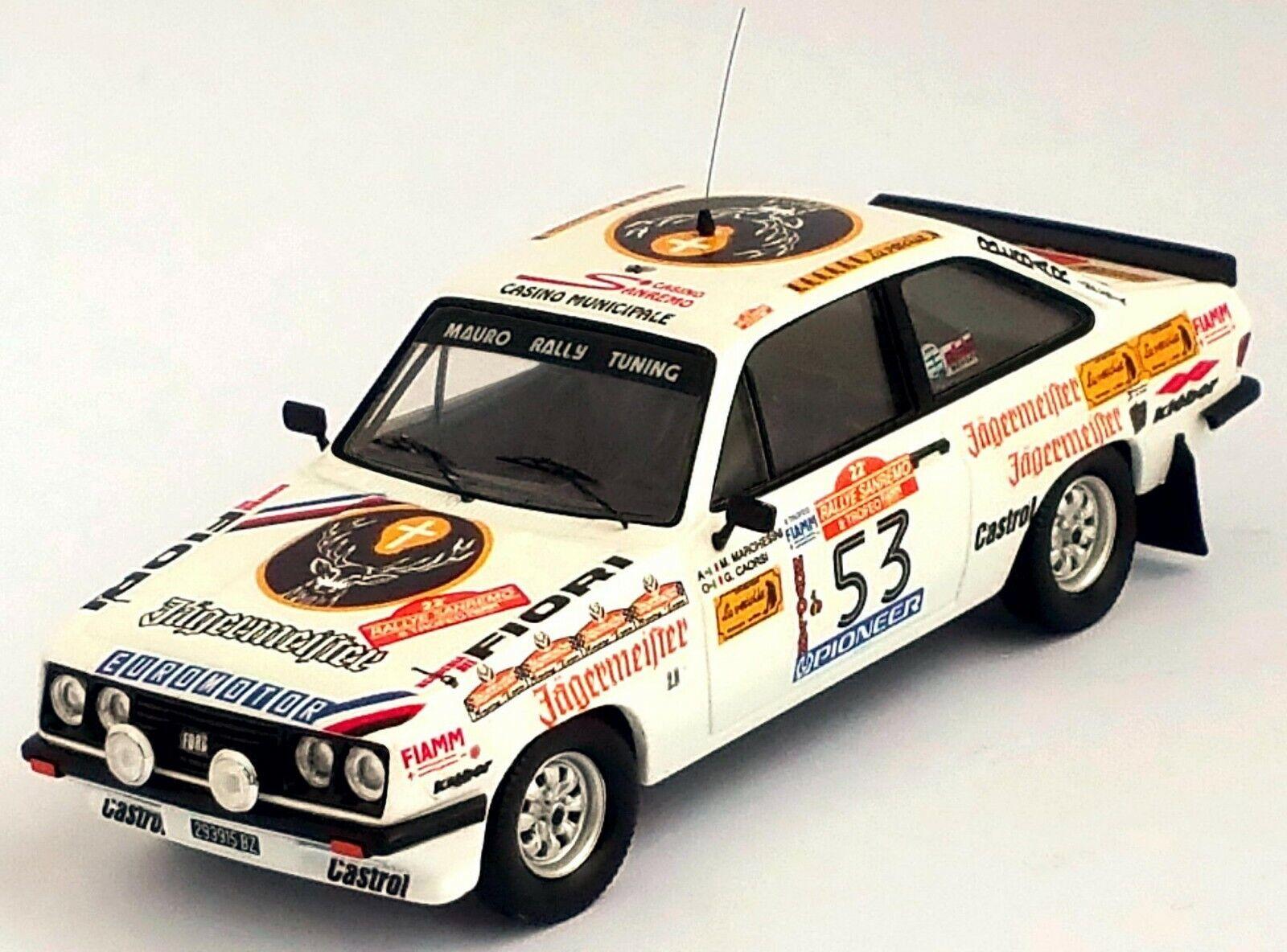 Ford Escort Mk2 RS2000 -Sanremo rally 1980  M.Marchesini Gianni  TROFEU RR 02