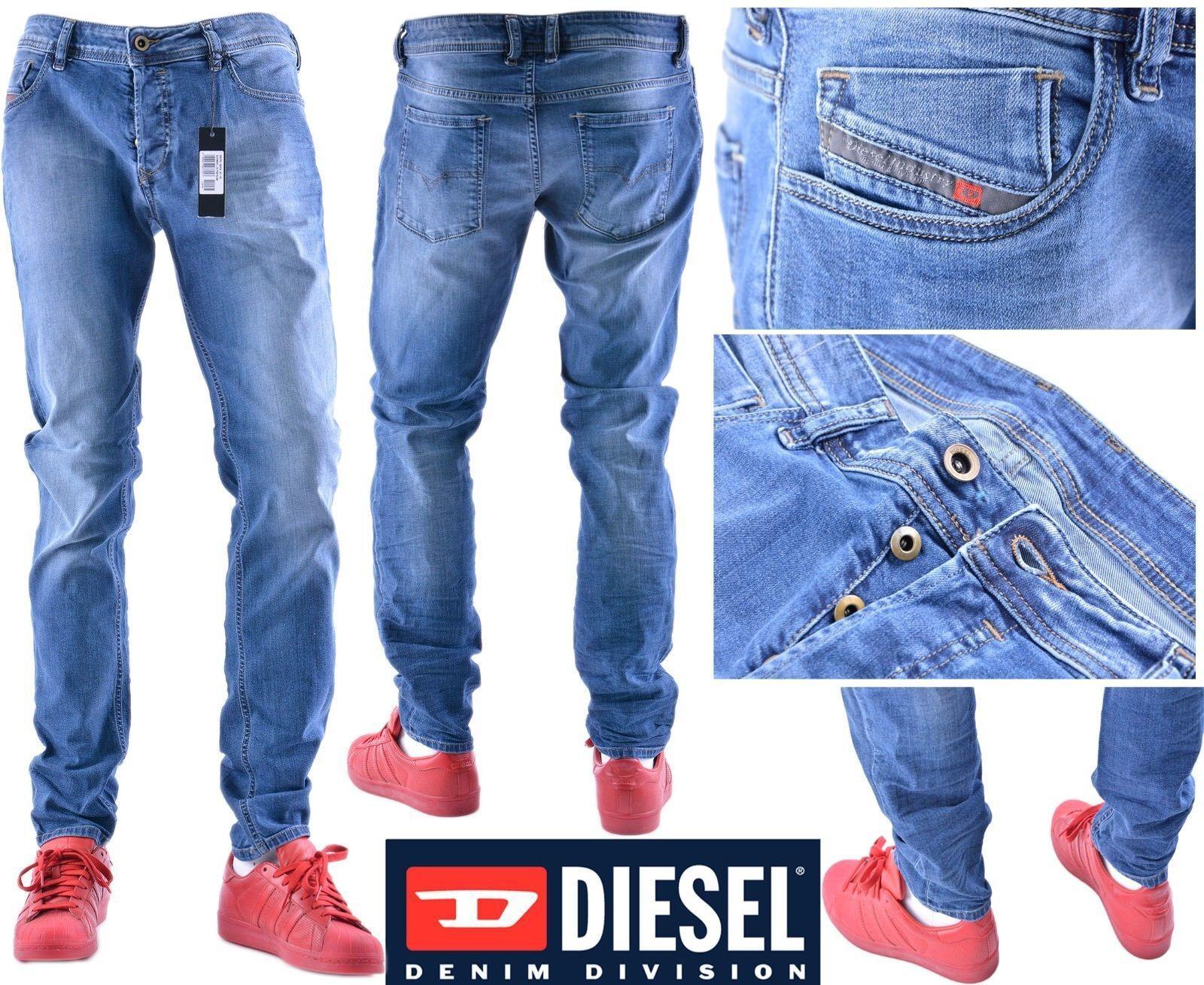 DIESEL SLEENKER 0681N W32 L32 Mens Denim Jeans Regular Fit Straight
