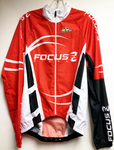 Focus Wind Cycling Jacket in Red Made in Italy by GSG