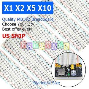 Lot-MB-102-830-Point-Prototype-PCB-Solderless-Breadboard-Protoboard-US