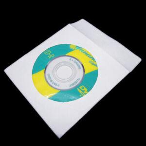 Mini-100-Pc-White-Paper-Disc-Bags-Cases-Media-DVD-CD-Cases-Packaging-A9U3-S-C4F7