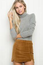 Brandy Melville Brown Bodycon Zipper Closure Raquel Corduroy Skirt NWT sz S