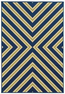 9 X13 Sphinx Geometric Blue Chevron