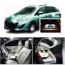 For Mazda 5 2006-2010 Xenon White LED Interior kit + White License Light LED
