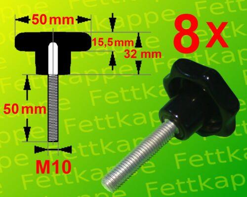 Griff Ø 50mm 8 x Sterngriffschraube M10 x 50mm Sternschraube Klemmschraube