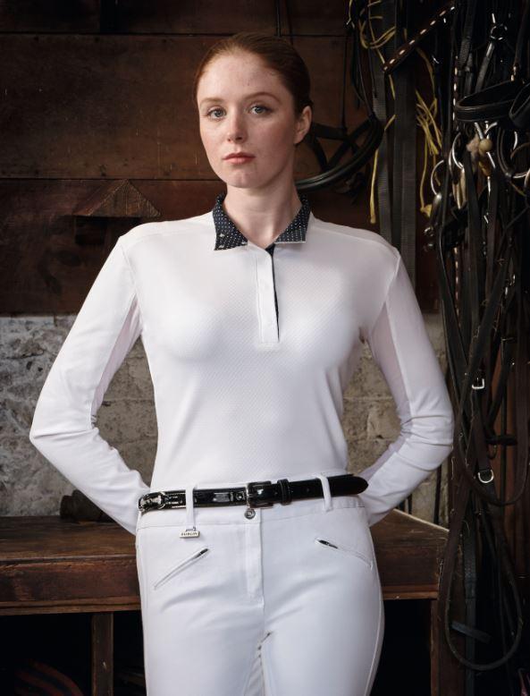 NUOVO  Dublin Donna Bianco Flusso d'aria CDT Camicia a uomoiche lunghe della concorrenza