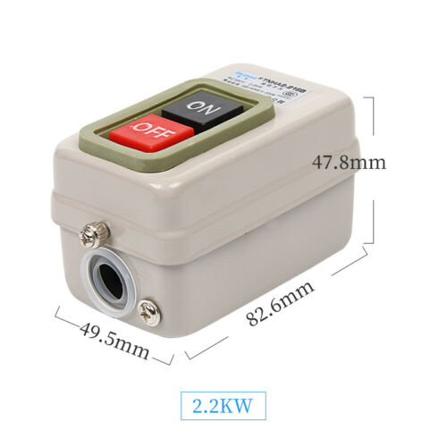 Metal Case Three-phase Motor Power Pushbutton Switch 380V 1.5KW 2.2KW 3.7KW