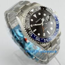 2173 Parnis 40mm Sapphire GMT Ceramic Bezel Black Dial Automatic Men's Watch