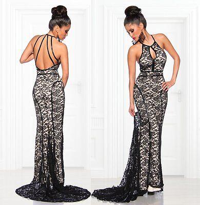 """Abendkleid """"Priscilla"""" langes Kleid aus Spitze schwarzes ..."""