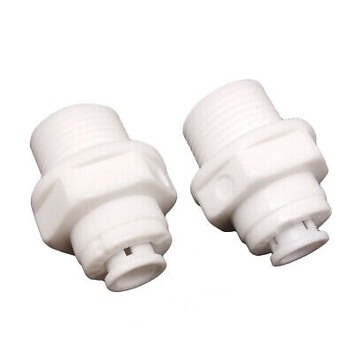 2pcs 3//8 Male Thread to 3//8 Tube Quick Connect Push Fit
