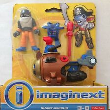 NIB Fisher-Price Imaginext Shark Minisub Action Figure Mini Sub