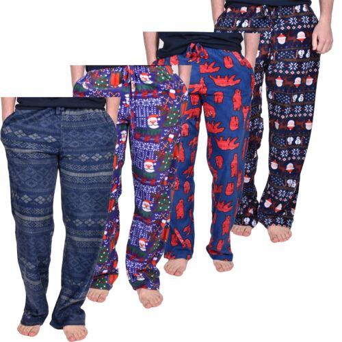 Mesdames Pyjamas Lounge Pants Polaire Bas de Noël homme Nightwear Unisexe Lot