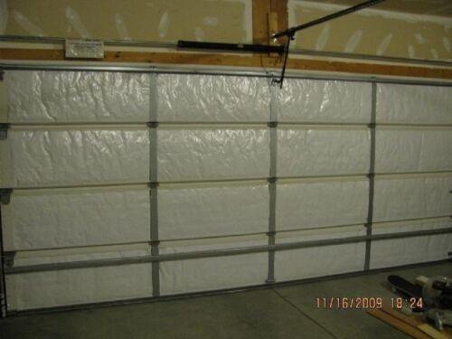 NASATech Reflective 2 Car White Poly-Foam Garage Door Insulation Kit 14H x 18T