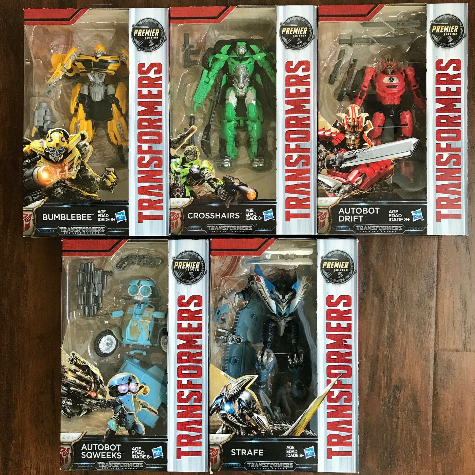 Transformers The Last Knight - 5 LOT - Bumblebee Crosshairs Drift Strafe Sqweeks