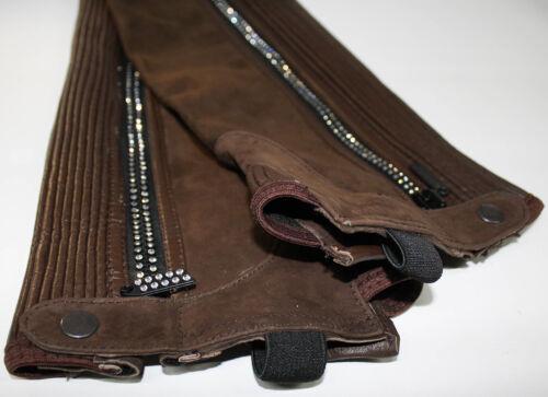 Riders Trend Erwachsene Reiterchaps Nubuk Leder Mini Chaps mit Kristall Zip XXL